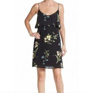 Joie Black Green Floral Print Dress